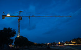 Industrial construction crane Royalty Free Stock Photography
