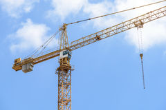 Industrial Construction Crane On Blue Sky Stock Images
