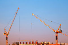 Industrial construction crane. Stock Photo