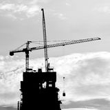 Industrial construction cranes and building Stock Photo