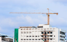 Industrial construction crane. S and building Royalty Free Stock Images