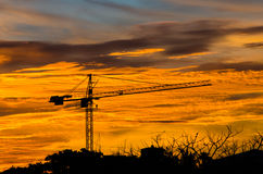 Industrial construction cranes. Stock Photography