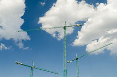 Industrial Construction Cranes Stock Photo
