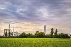 Industrial construction producing bio energy Stock Image