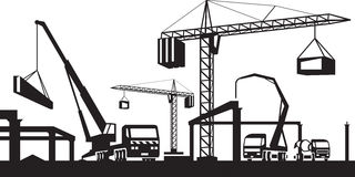 Industrial construction scene Stock Image