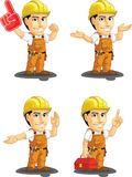 Industrial Construction Worker Customizable Mascot Stock Photos