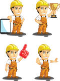 Industrial Construction Worker Customizable Mascot Royalty Free Stock Images