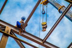 Industrial construction worker frames Stock Images