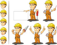 Industrial Construction Worker Mascot 3 Stock Images