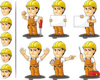 Industrial Construction Worker Mascot Royalty Free Stock Photos