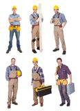 Industrial construction workers Stock Images