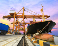 Industrial Container Cargo freight ship Royalty Free Stock Images