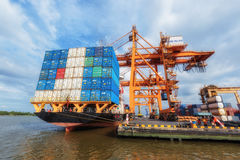 Industrial Container Cargo freight ship Stock Image