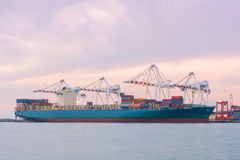 Industrial Container Cargo freight ship Royalty Free Stock Photo