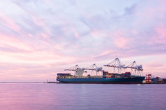 Industrial Container Cargo freight ship Royalty Free Stock Image