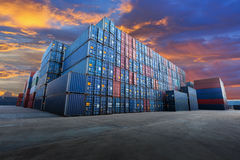 Industrial Container yard Stock Images