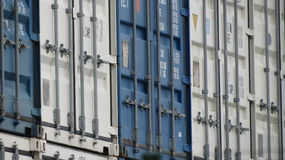 Industrial containers for transport Royalty Free Stock Image