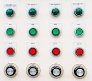 Industrial control panel button Stock Photography