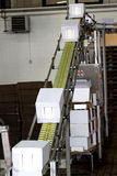 Industrial conveyor line Royalty Free Stock Images