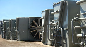 Industrial coolers. Few industrial cooler awaiting for transport Royalty Free Stock Photography