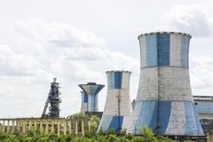 Industrial cooling chimneys Stock Image