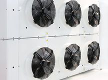 Industrial cooling fans Royalty Free Stock Photo