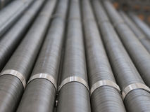 Industrial cooling pipes Stock Photos