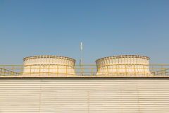 Industrial cooling tower Royalty Free Stock Photos
