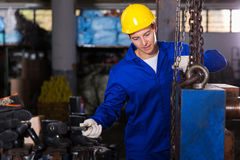 Industrial craftsman working Stock Images
