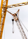 Industrial crane against white Royalty Free Stock Image
