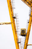Industrial crane against white Royalty Free Stock Photography