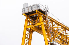 Industrial crane against white Stock Image