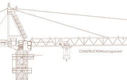 Industrial Crane Background Royalty Free Stock Photos