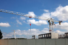Industrial Crane at the construction site Stock Images