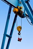 Industrial crane detail Royalty Free Stock Photos