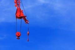 Industrial crane hook Stock Photos