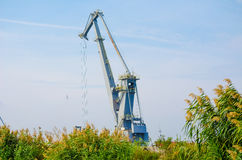 Industrial crane Stock Image