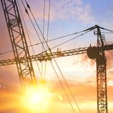 Industrial crane. Stock Photo