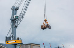 Industrial crane Stock Photo