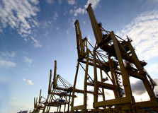 Industrial cranes stock photography