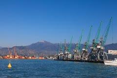 Industrial cranes in Batumi Stock Image