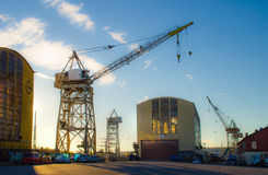 Industrial cranes Stock Image