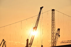 The industrial cranes Stock Photo