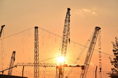 The industrial cranes Royalty Free Stock Images