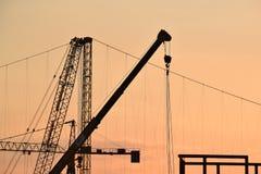 The industrial cranes Stock Photos