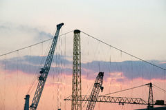 The industrial cranes Royalty Free Stock Image