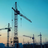 Industrial cranes Royalty Free Stock Images