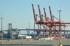 Industrial Cranes Royalty Free Stock Image