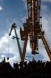 Industrial cranes Stock Images
