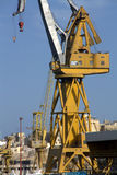 Industrial cranes in port Stock Photography